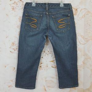 Seven Jeans 28 Stretch Denim Crop Capri Pants 28